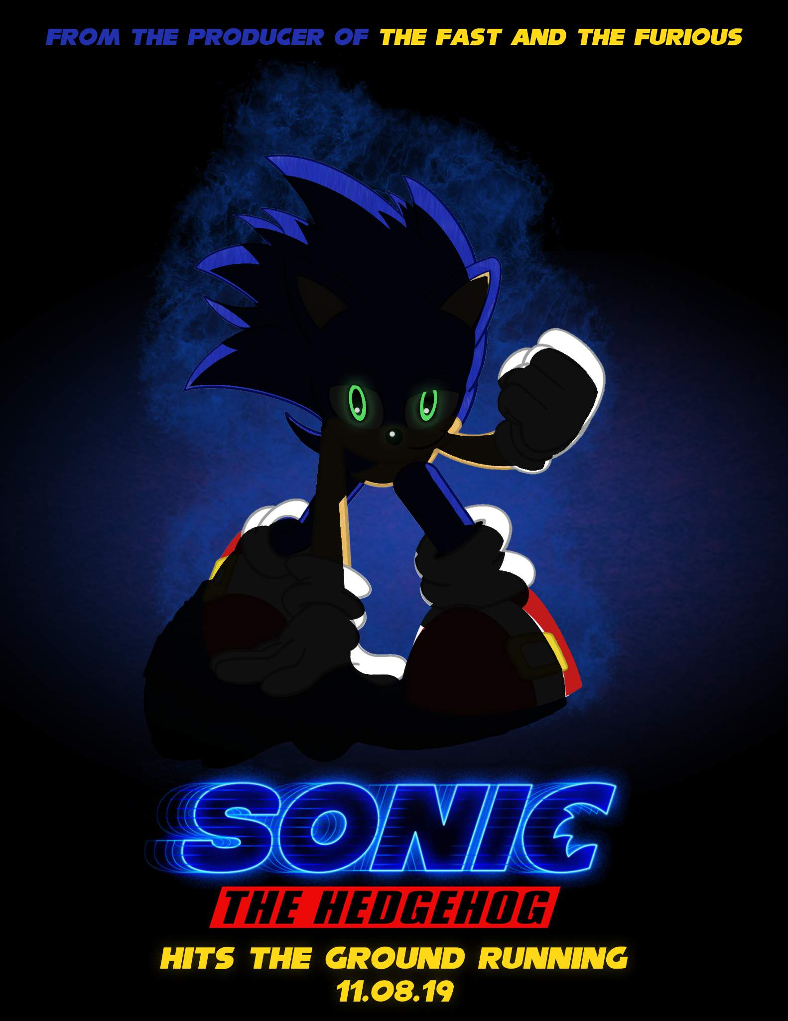 Sonic Movie Poster Remake Sonic The Hedgehog Amino