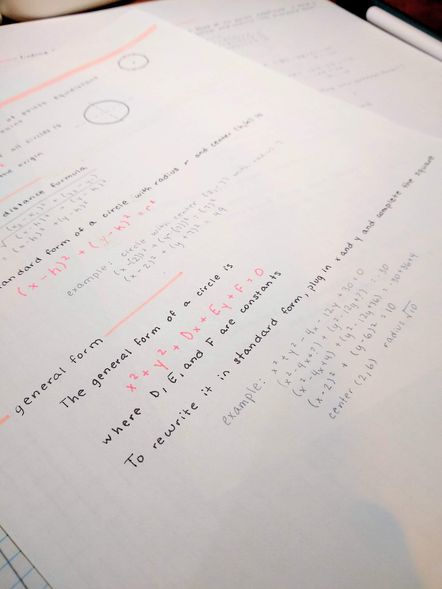 Conics Notes Pt 01 - Circles | School Amino