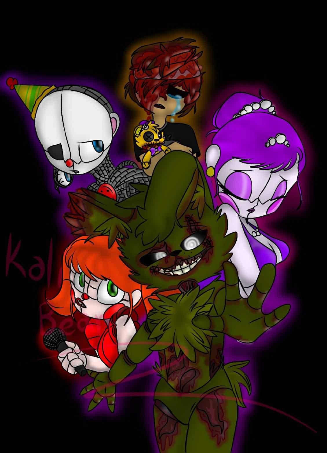 All Afton Family Animatronics