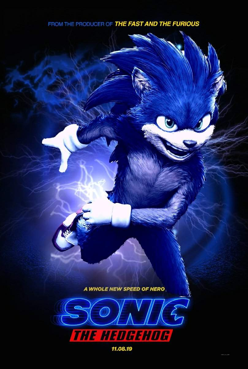 Sonic Movie Poster Edit Sonic The Hedgehog Amino