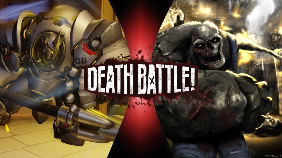 Reinhardt(overwatch) vs 50 chargers(left 4 dead) death battle