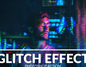 place to download glitch effect photoshop action free  zip