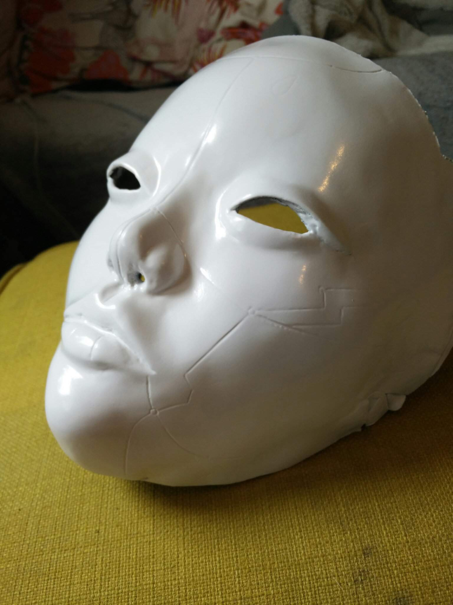 Ghost In The Shell Red Robed Geisha Mask Work In Progress Making The Mask Cosplay Amino