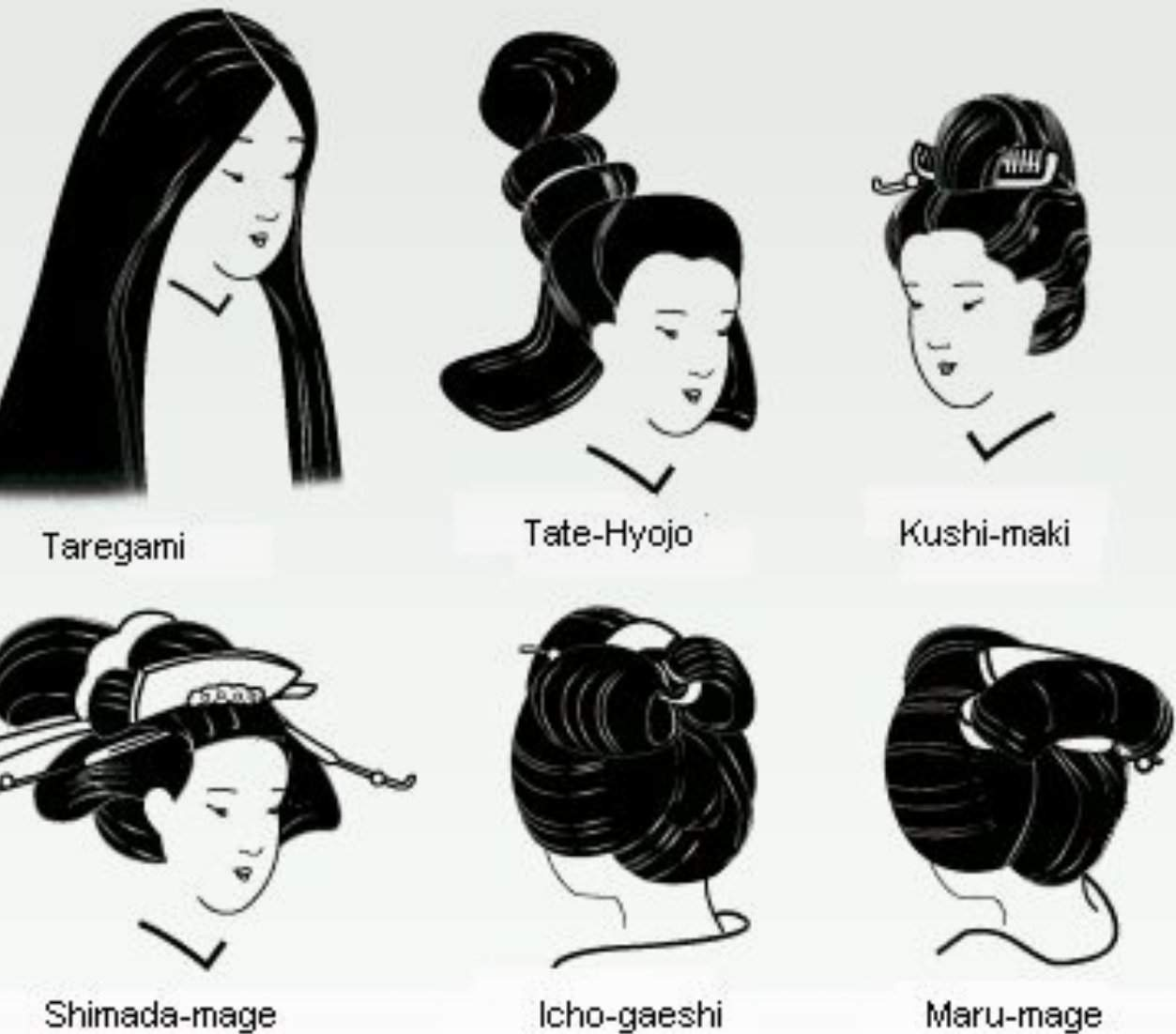Traditional Japanese hairstyles- Women | Japan Amino