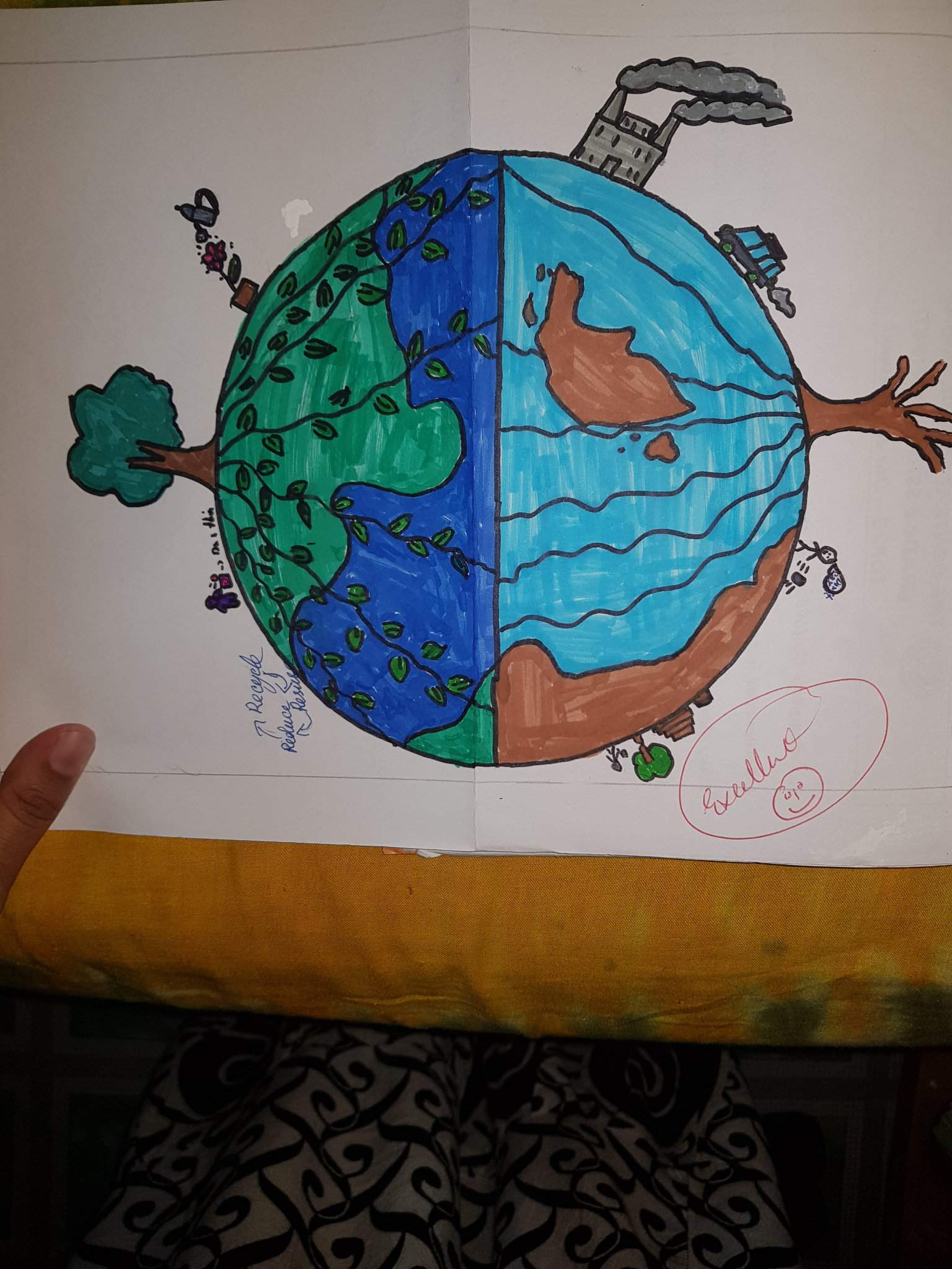 Save Our Environment How To Draw Amino
