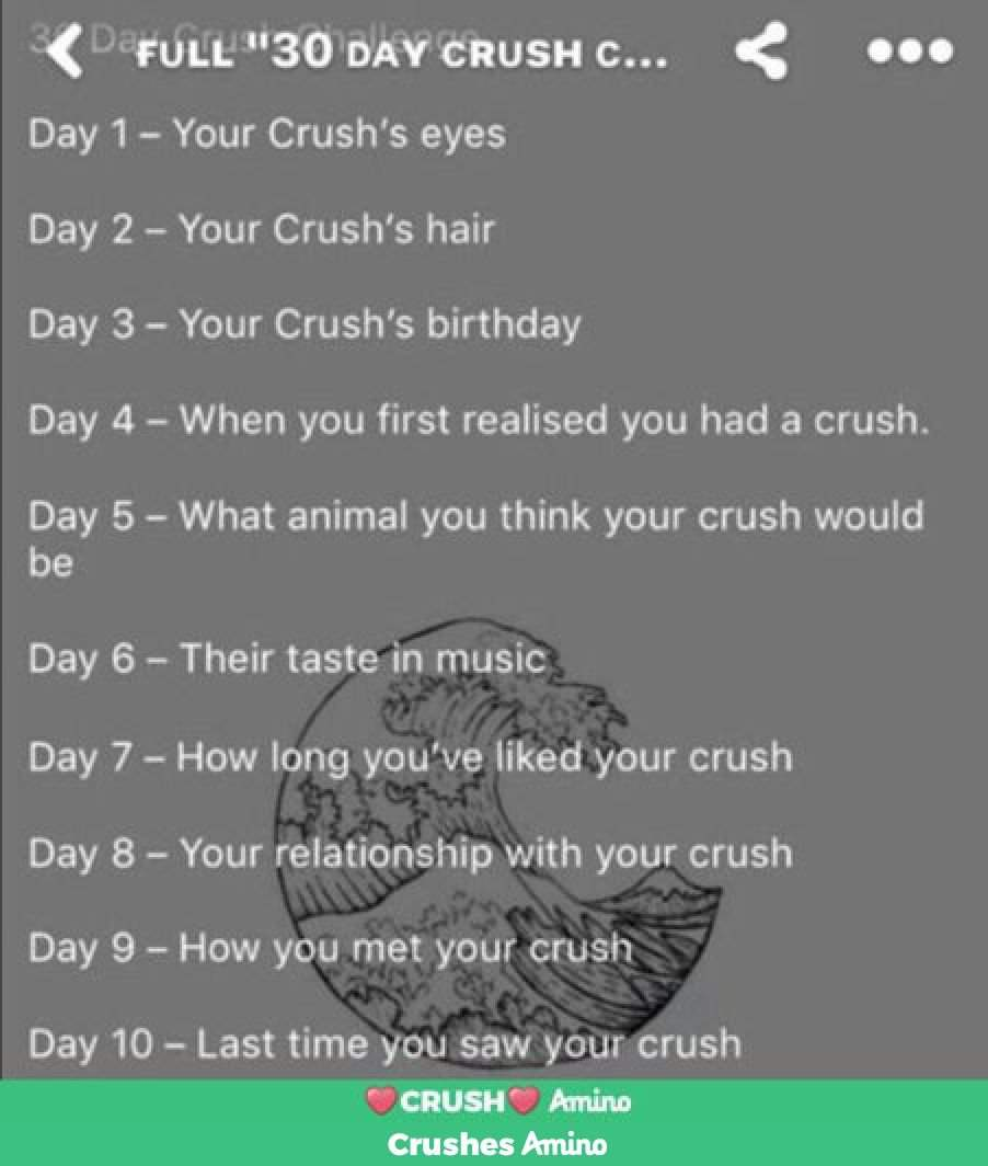 Day 10 | Crushes Amino