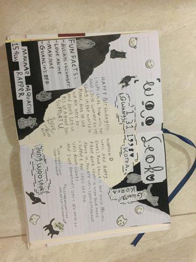 a journal spread about wooseok's birthday UwU   Pentagon 텐