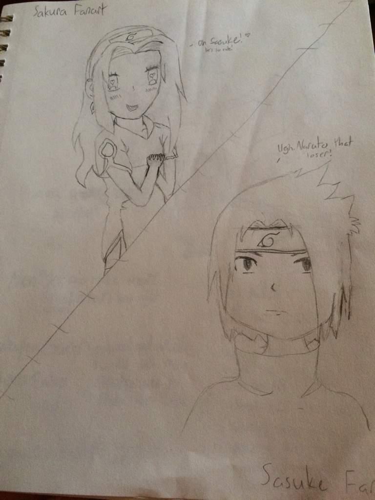 Sakura and sasuke sketch fanart naruto amino