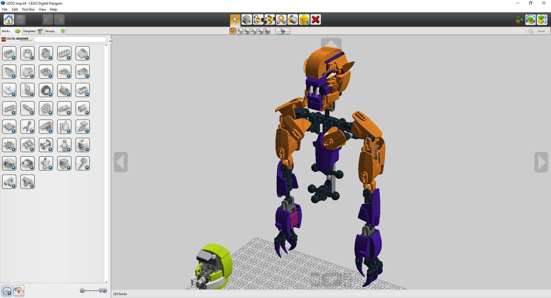 Lego Doom Imp Wip Ldd Lego Amino