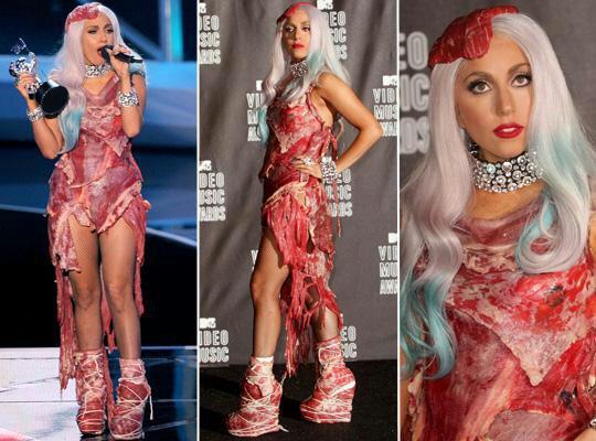 El Significado Del Vestido De Carne De Los Vms 2010 Lady
