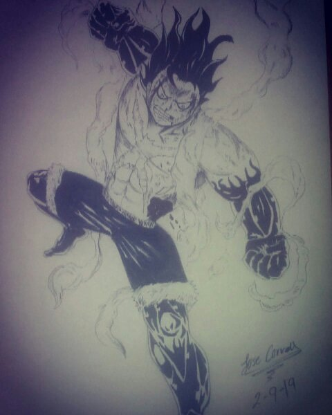 Another Luffy Gear 4 Snake Man Drawing One Piece Amino