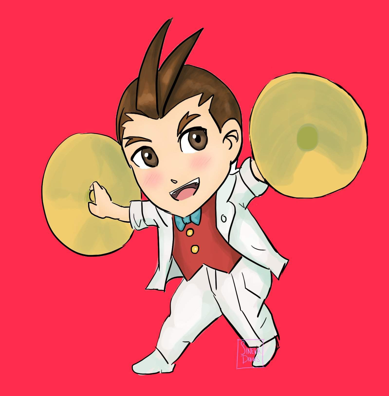 Fanart Apollo Justice Chibi Inspired By The Ace Attorney