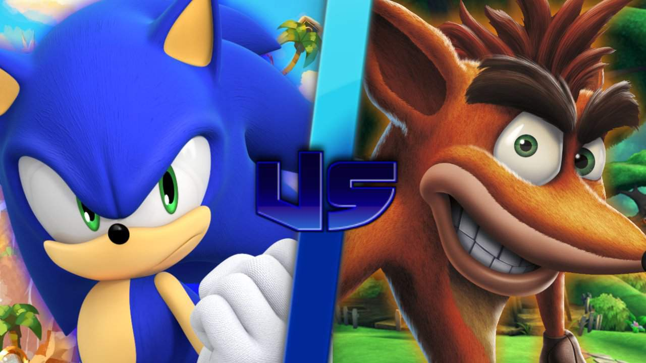 Crash Bandicoot Vs Sonic The Hedgehog Sonic The Hedgehog Amino
