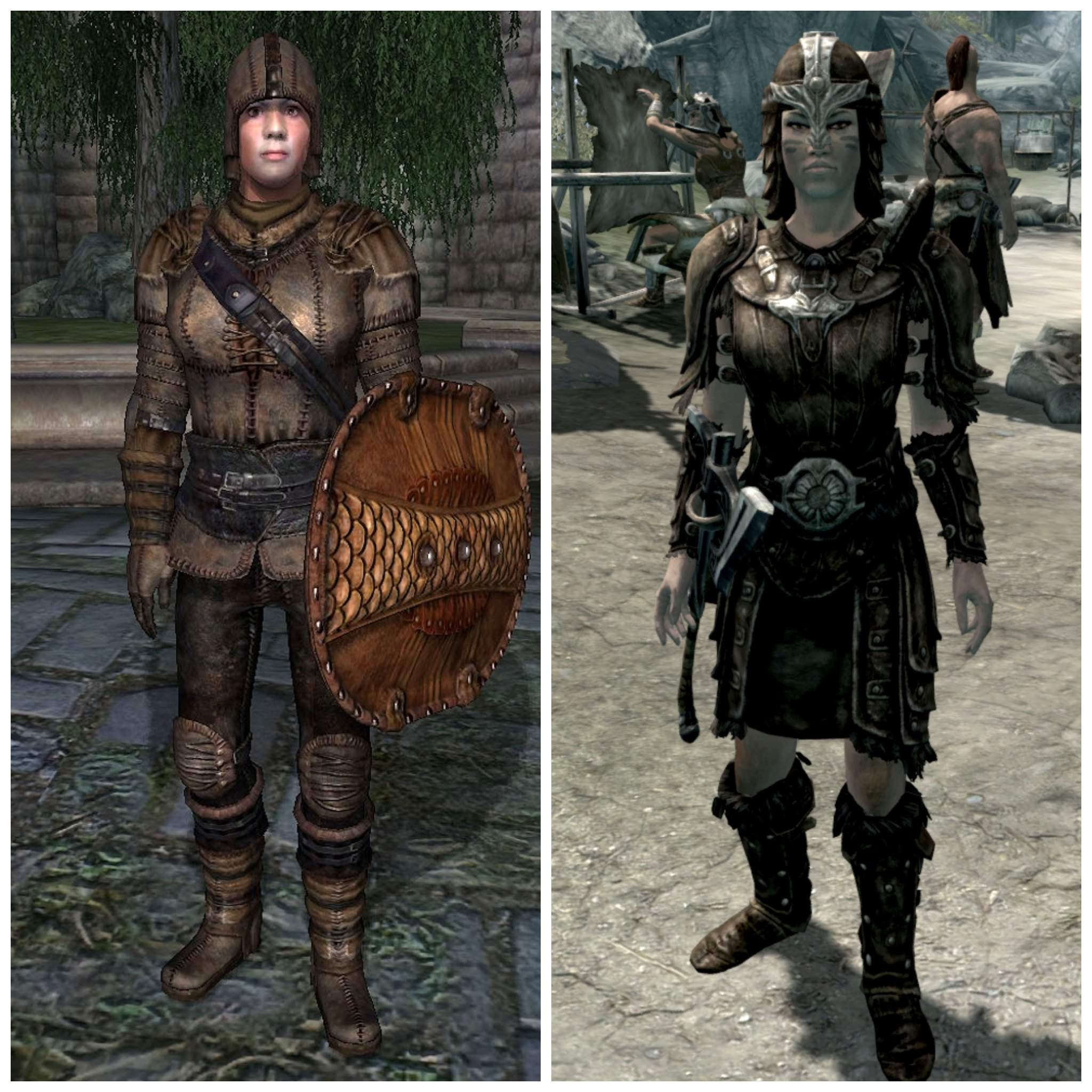 Comparing The Oblivion Armor Sets To The Skyrim Armor Sets Tamriel Elder Scrolls Amino Amino A video showing you how to activate the quest and how to find the armor imperial dragon armor.don't forget to check out my other channel (silent storm). amino apps