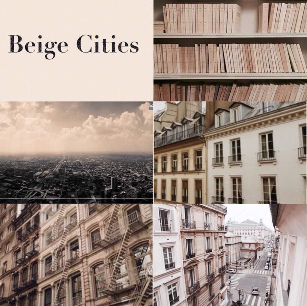 Beige City Aesthetic Collage Aesthetics Amino