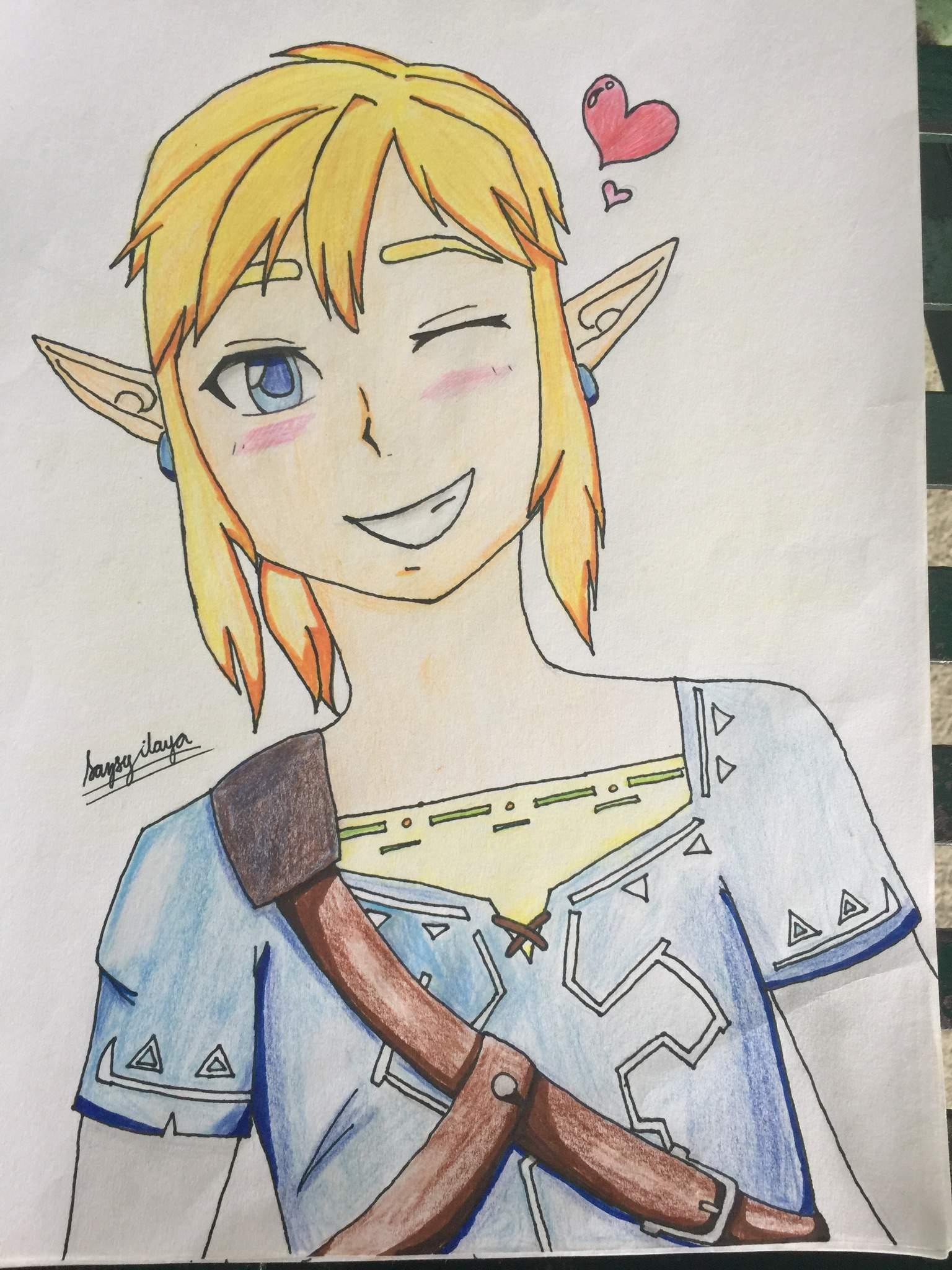 Link Botw Fanart Zelda Amino