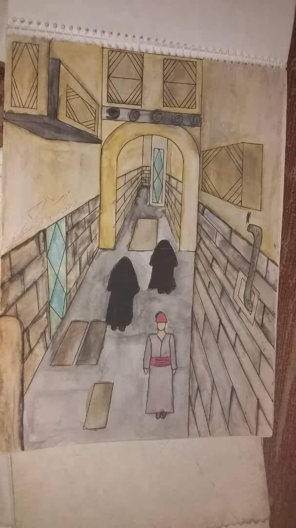حارة دمشقية قديمة Arab Art تعلم الرسم Amino