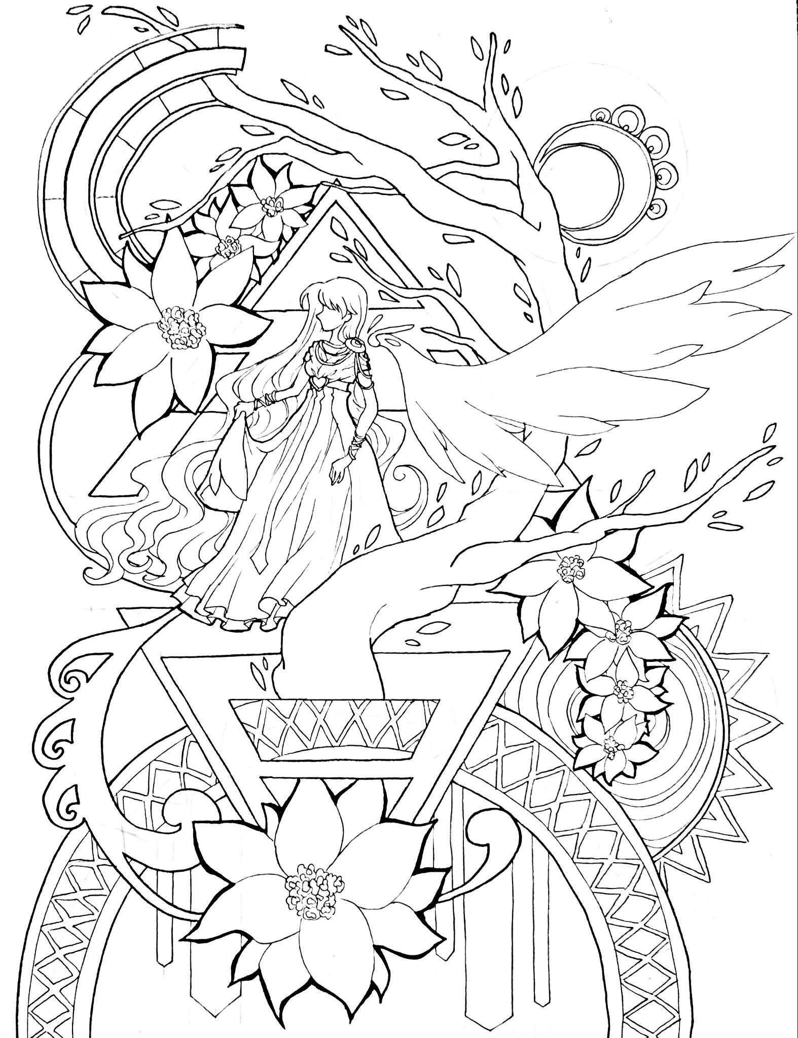Ausmalbild 25  German Anime Amino