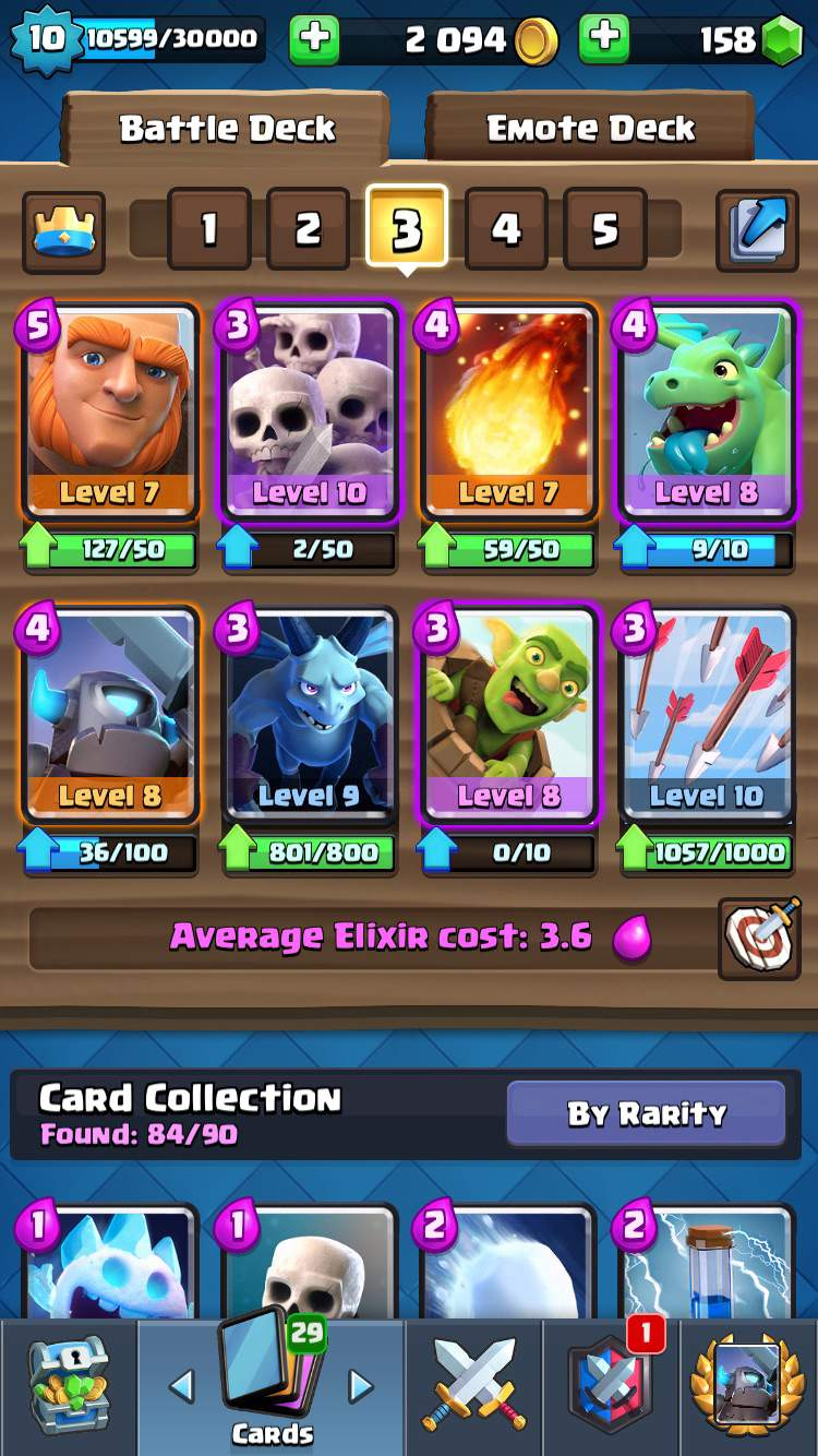 clash royale best deck for arena 11