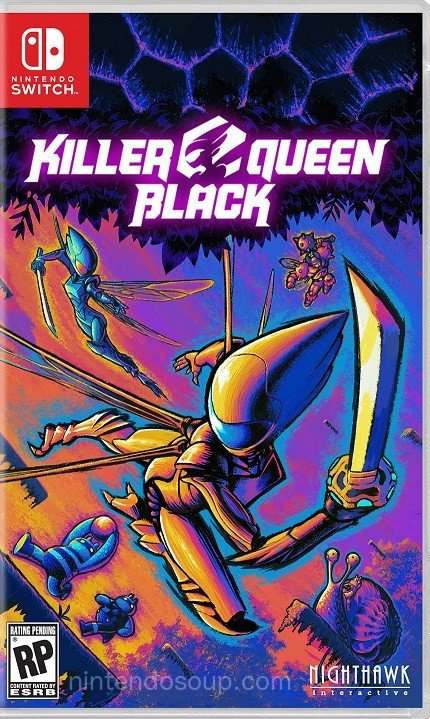 Killer Queen Black - Switch boxart, out this Summer