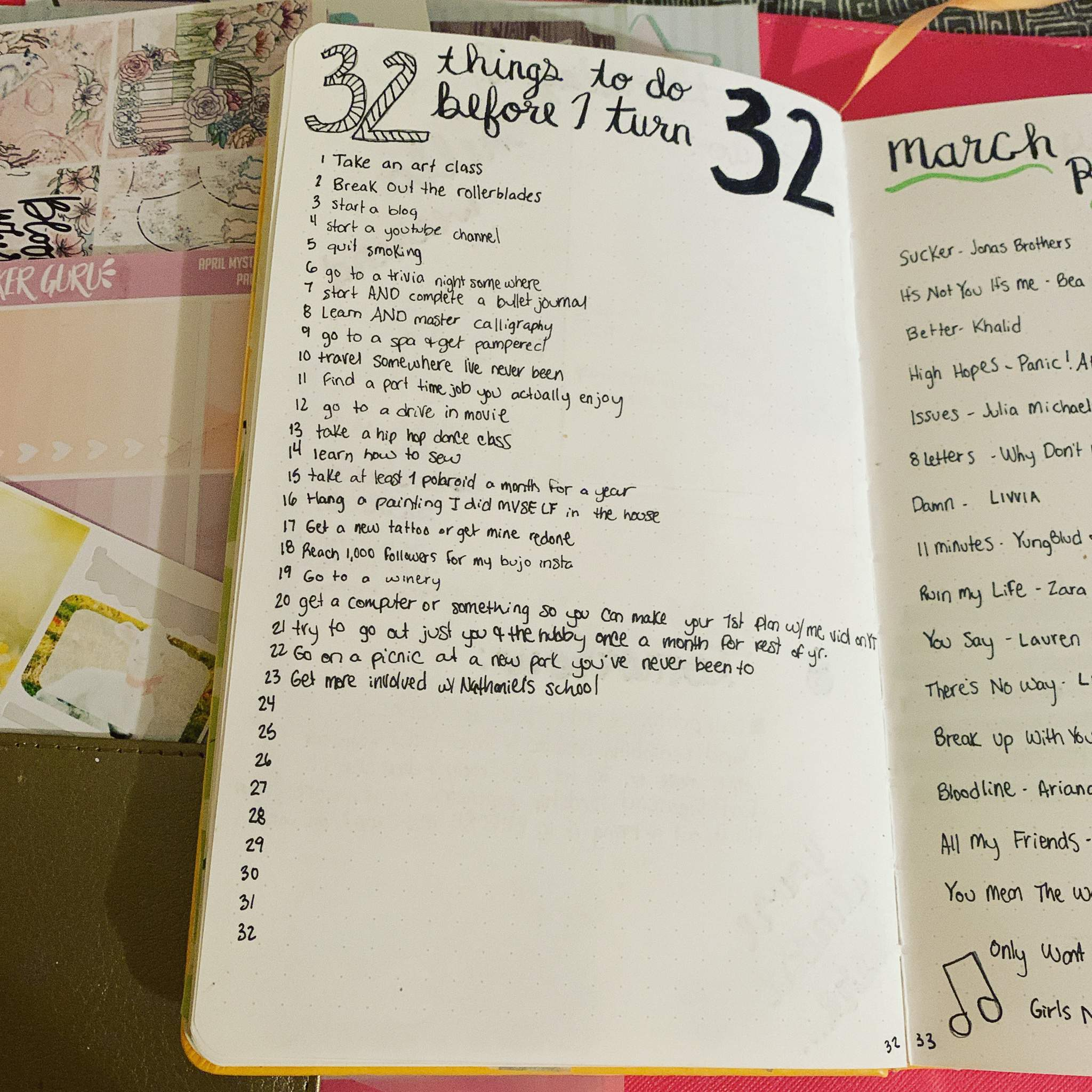 Bucket List Challenge Bullet Journal Amino