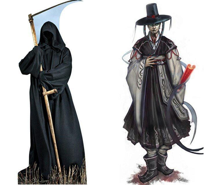 Korean folklore characters: The Joseung Saja/Grim Reapers | Korean