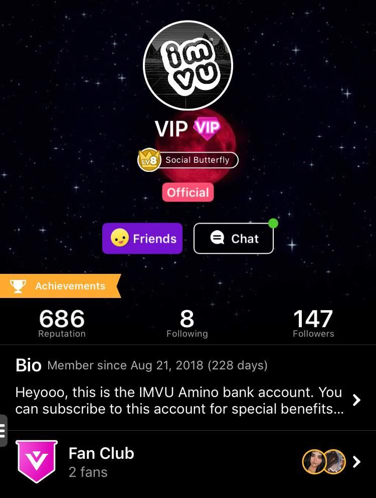 New VIP Amino status in beta! | IMVU Amino