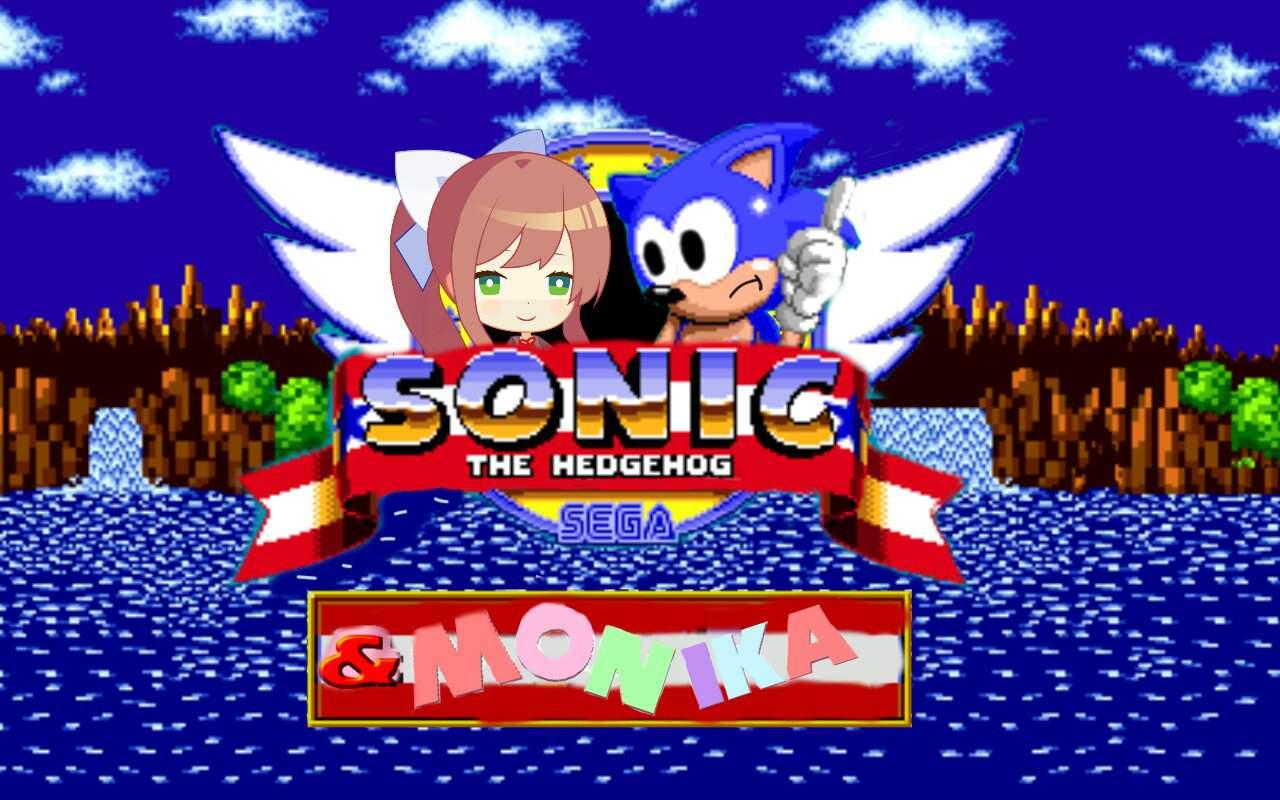 Title Screen Edit Of Monika In Sonic The Hedgehog Sonic The Hedgehog Amino