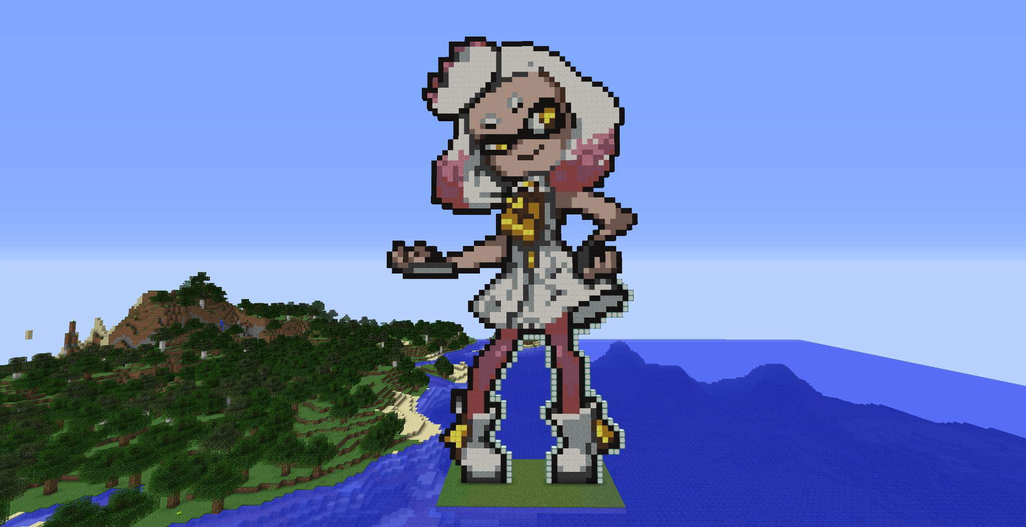Pearl Pixel Art In Minecraft Splatoon Amino