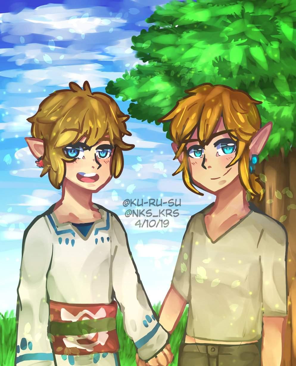 Sky And Wild Ss And Botw Link Fanart Zelda Amino
