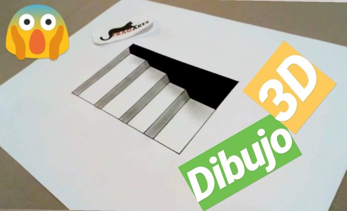 Como Hacer Un Dibujo 3d A Lápiz Paso A Paso Fácil Ilusión óptica