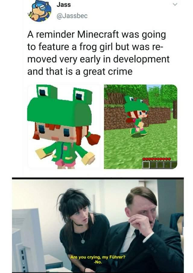 Minecraft Frog Girl Dank Memes Amino