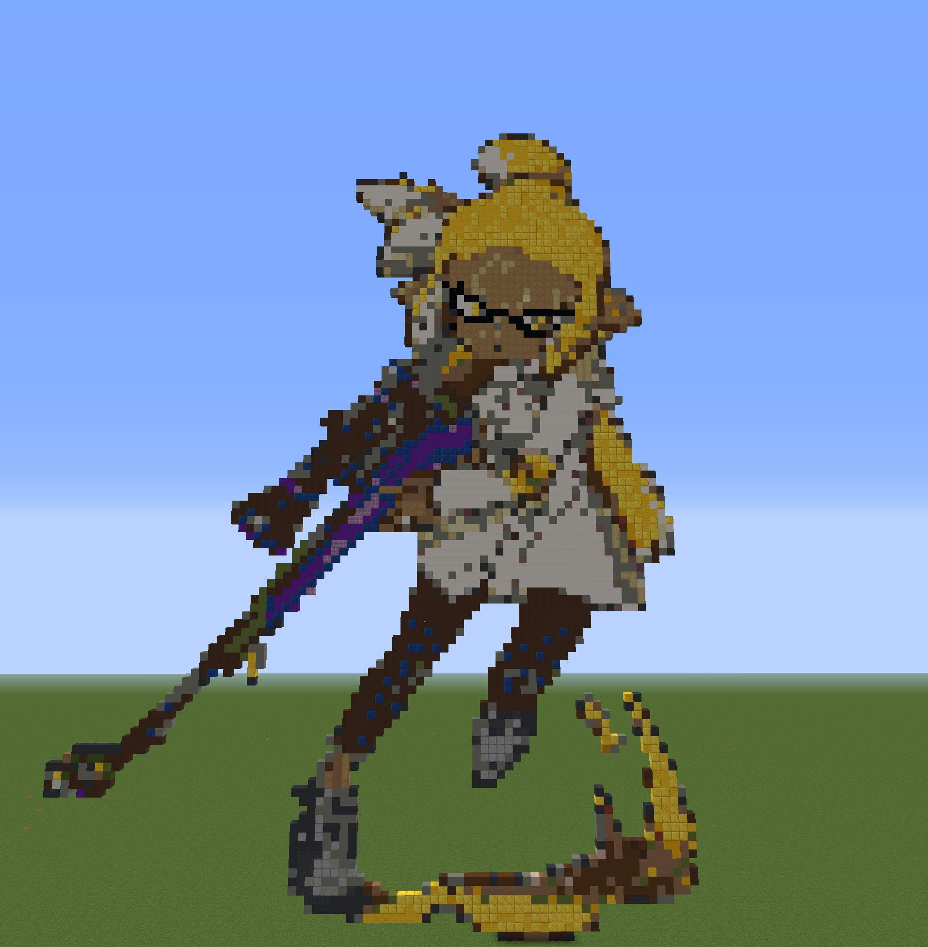 N Pacer Pixel Art In Minecraft Splatoon Amino