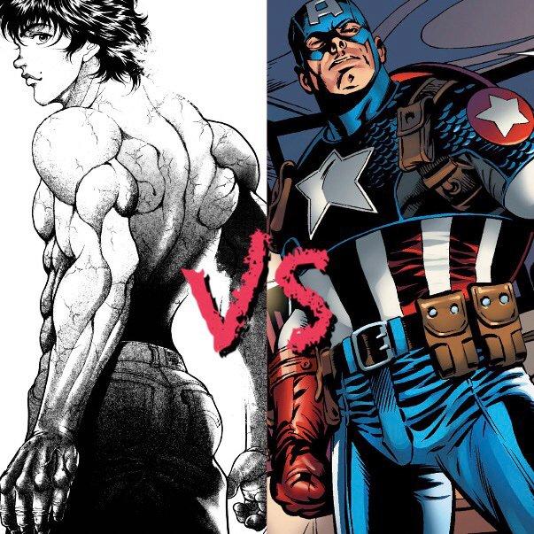 Peak Of Human Protential, Captain America Vs Baki Hanma