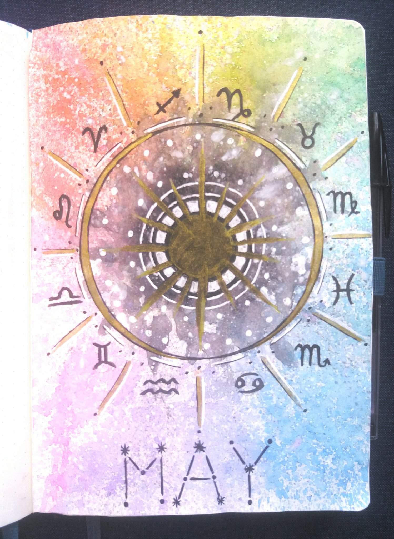 May setup  Zodiac and Astrology   Bullet Journal Amino