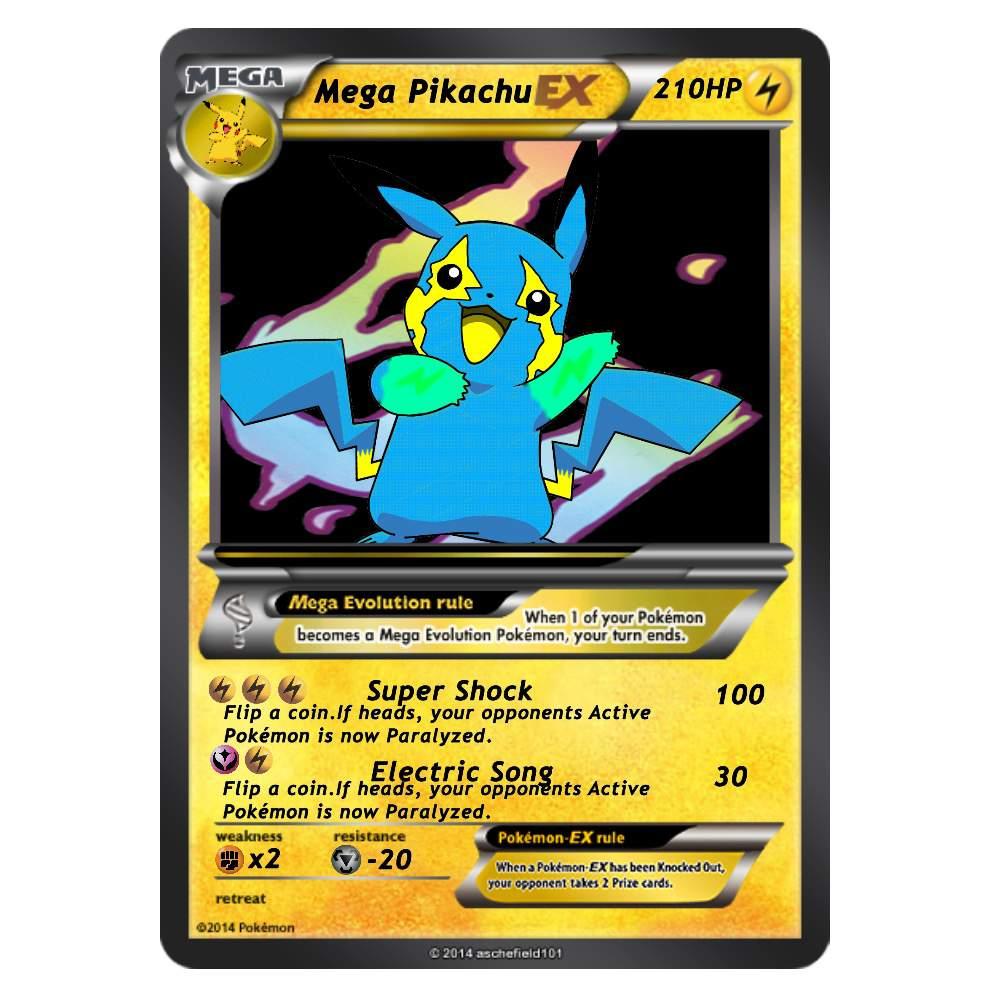 Mega Pikachu Card 2 Pokémon Amino