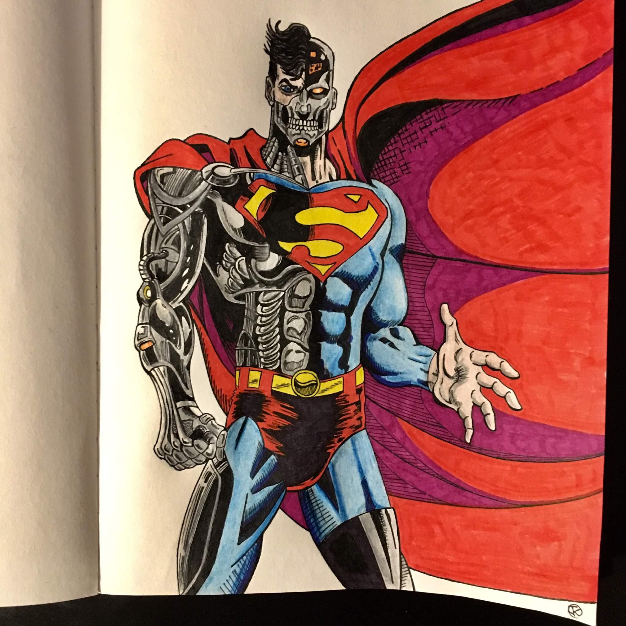 Cyborg Superman Drawing