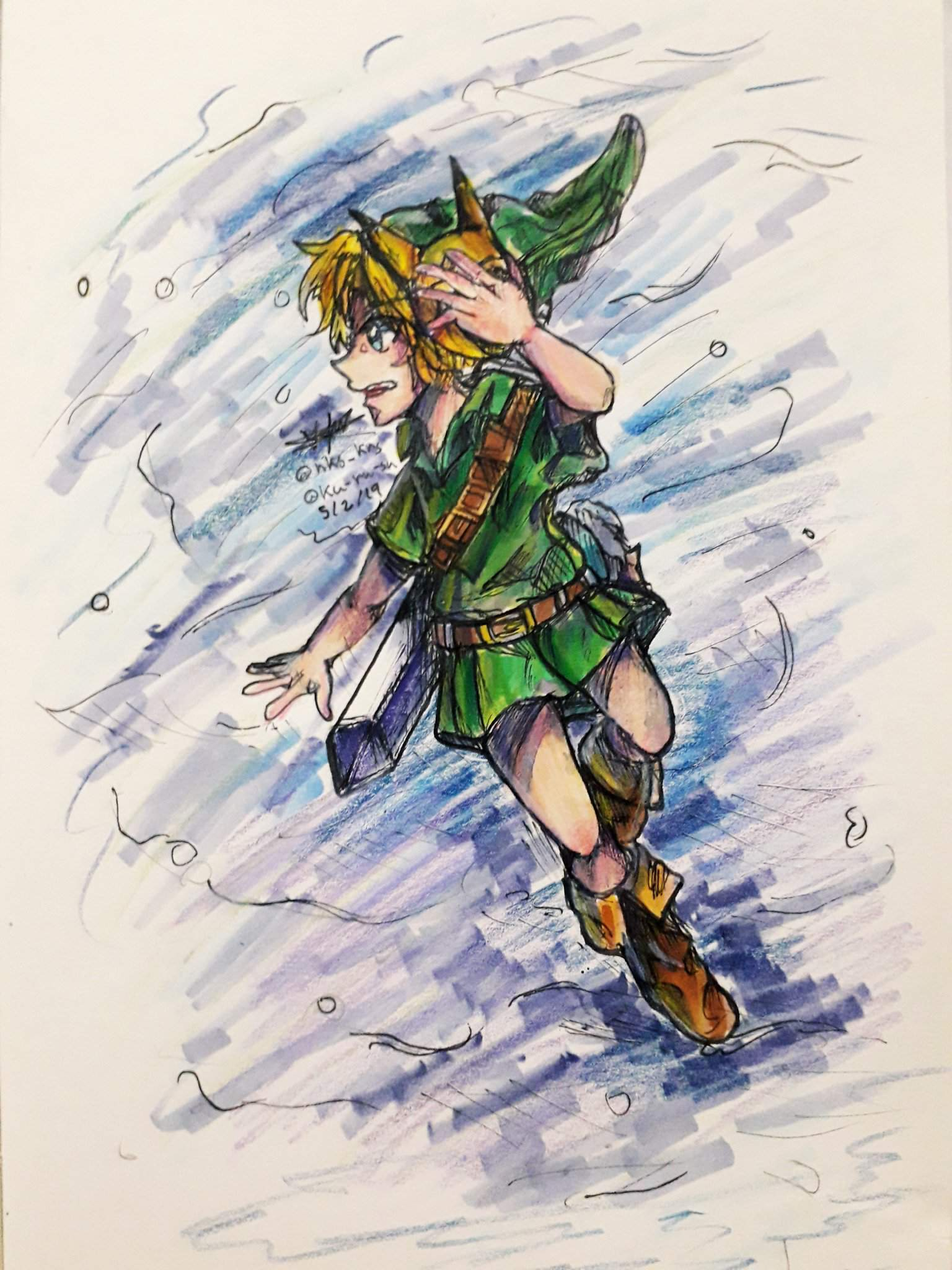 Young Hero Colourised Hyrule Warriors Young Link Fanart Zelda Amino