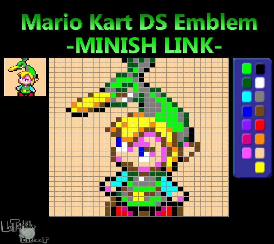 Minish Link Mario Kart Ds Emblem Zelda Amino
