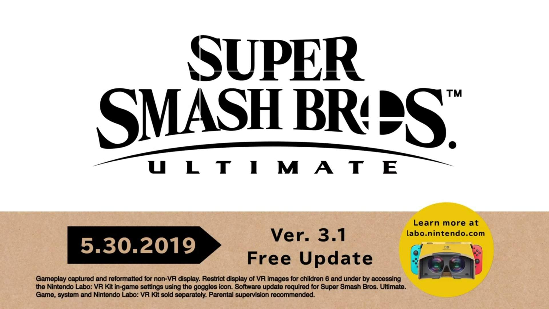 Super Smash Bros  Ultimate - Update 3 1 0 available now + Full patch
