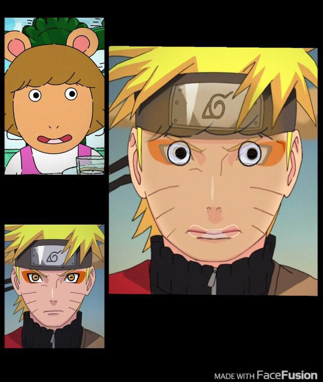 I used a face fusion app to fuse Naruto and DW I love it