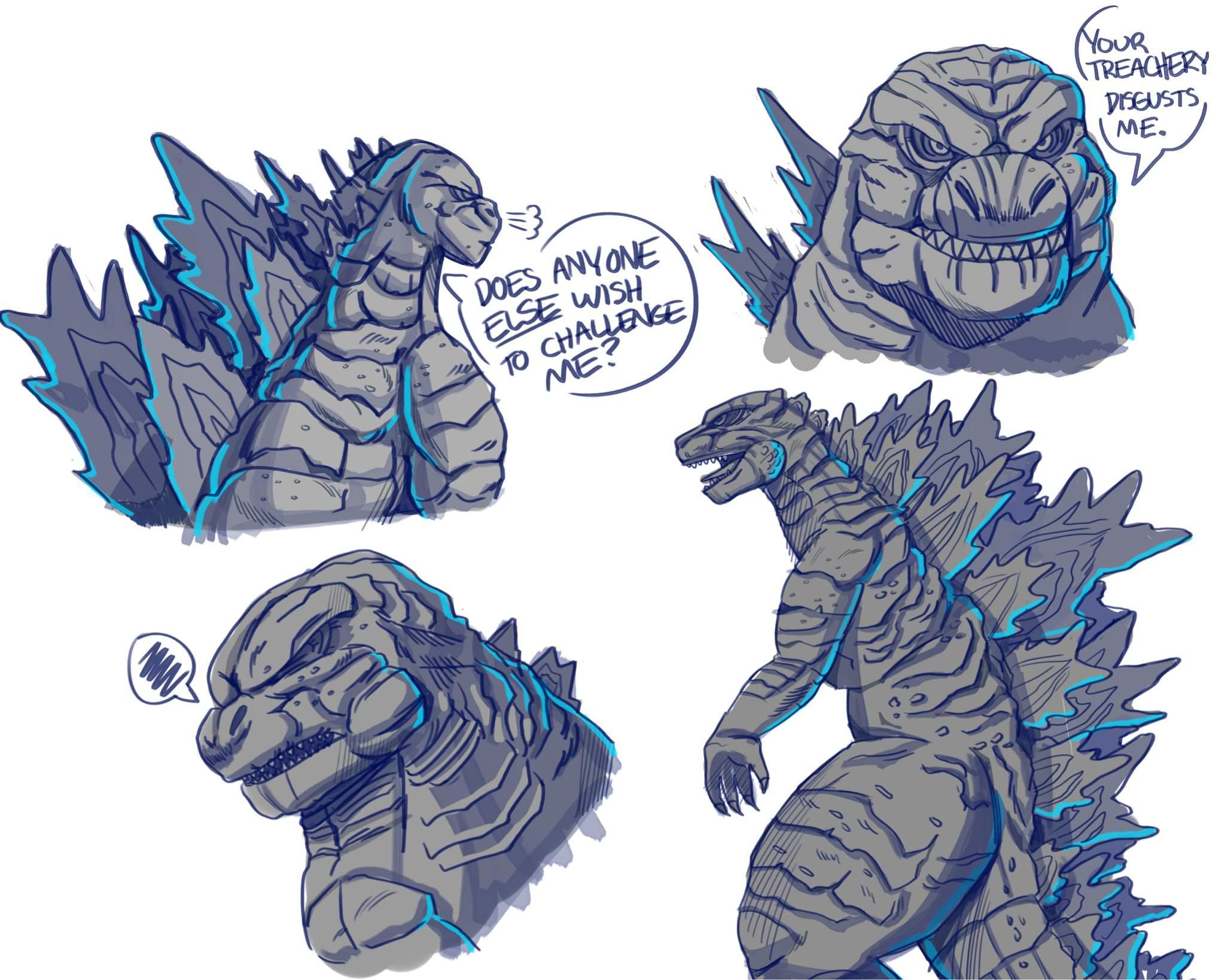 Goji 2019 doodles - Godzilla Amino