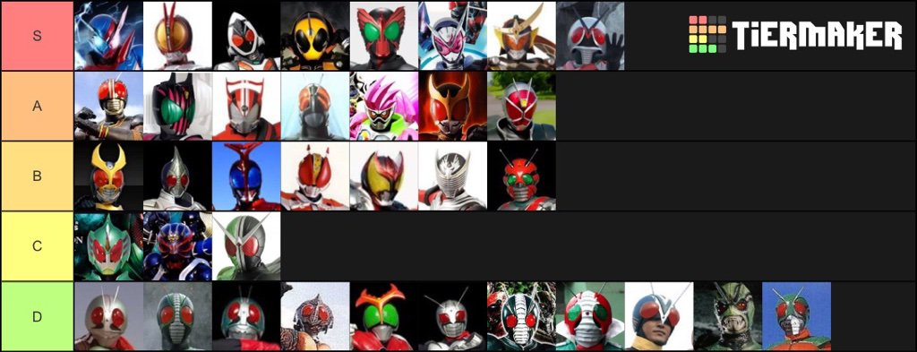 This is the list of rider shows that I would like to see