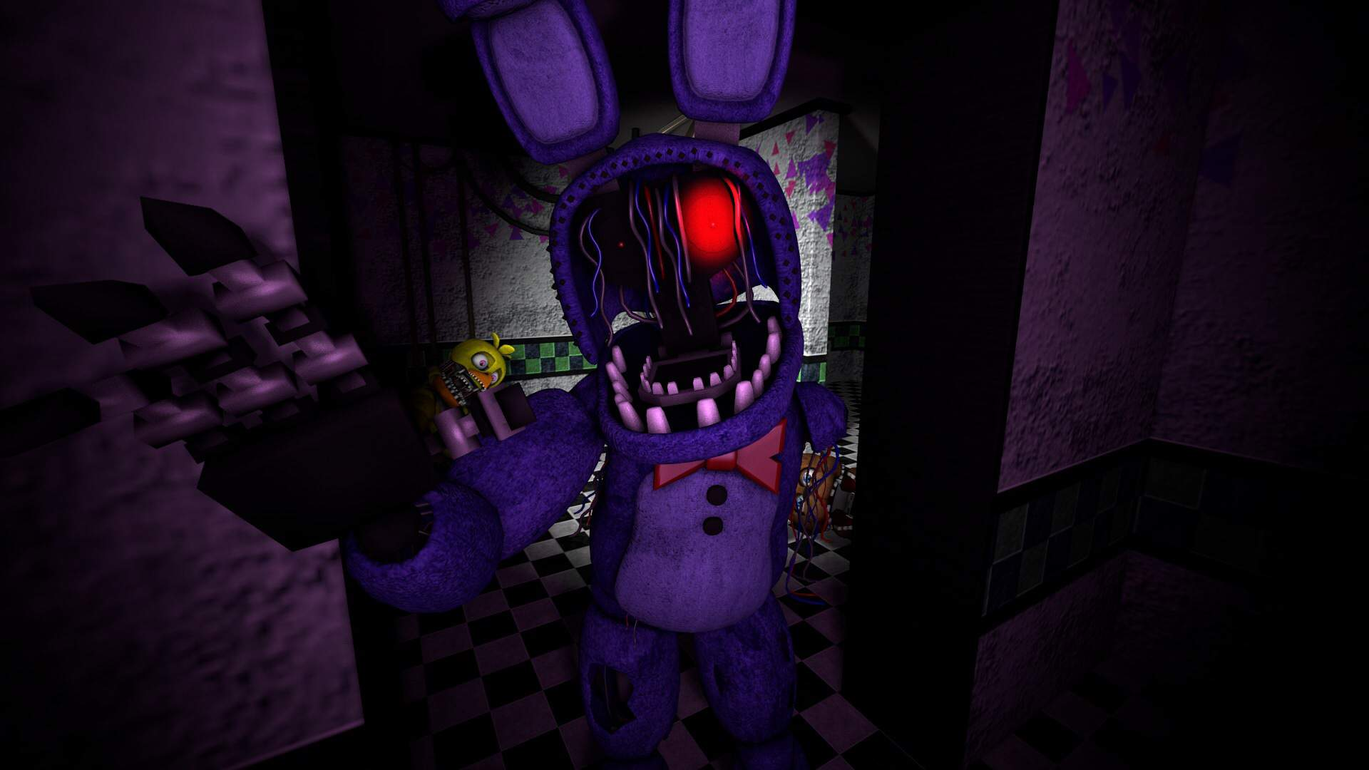 Face Your Fears Withered Bonnie Sfm Poster Five Nights At Freddy S Amino