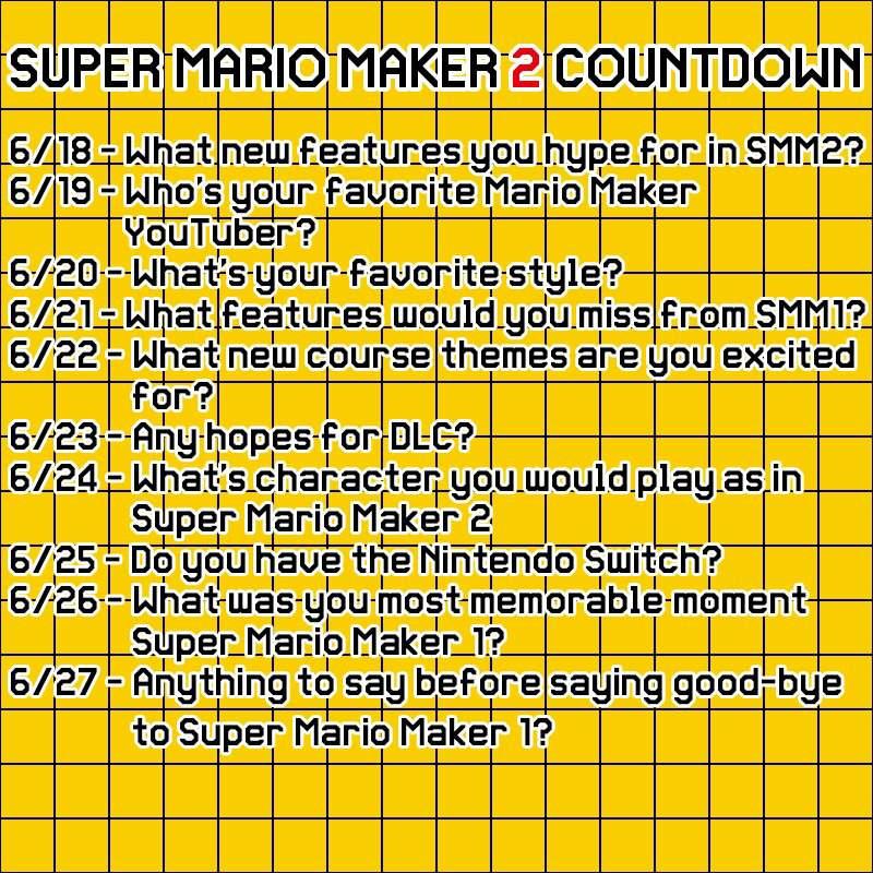10 Day Countdown Challenge   Super Mario Maker Amino