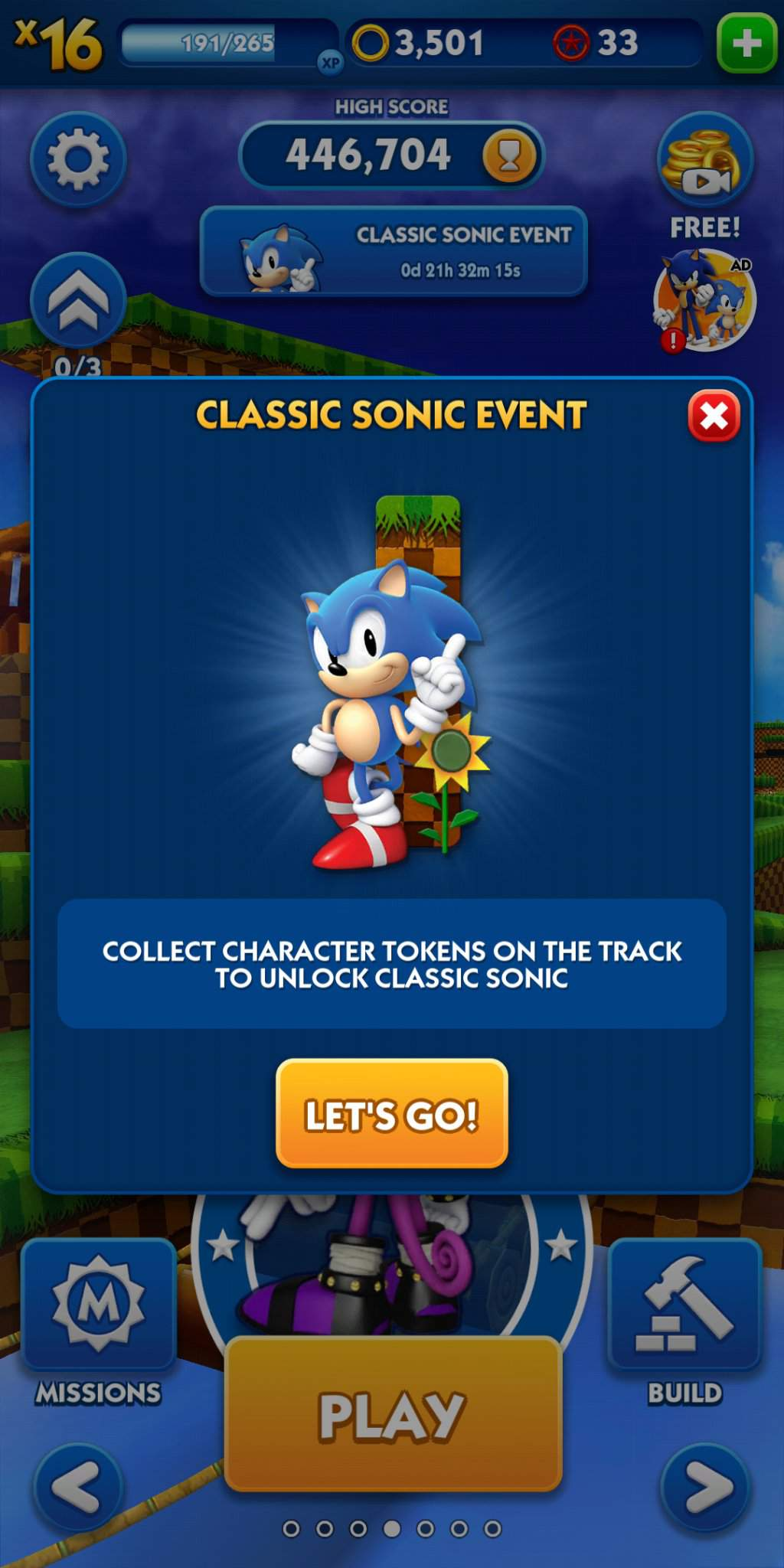 Classic Sonic Event In Sonic Dash Sonic The Hedgehog Amino
