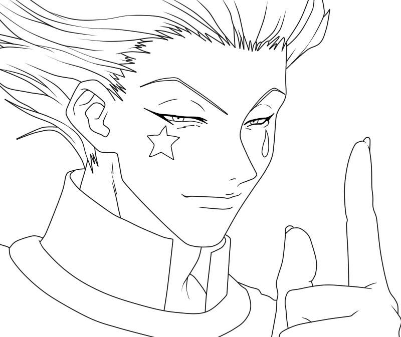 Hisoka Morow Lineart Coloring Hunter X Hunter Amino