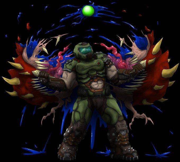 Doom Slayer Fan Art Doom Amino