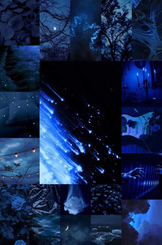 Dark Blue Large Aesthetic Collage Aesthetics Amino