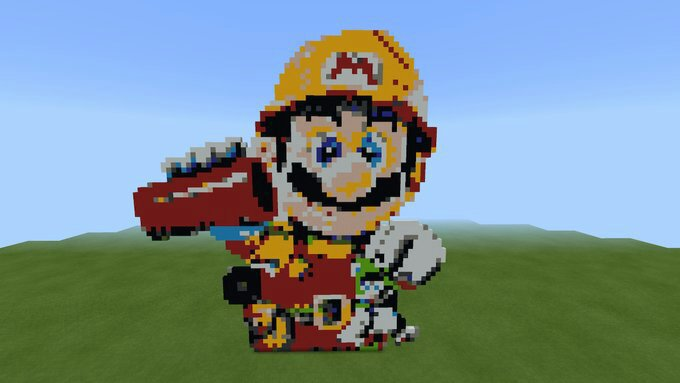 Super Mario Maker 2 Pixel Art In Minecraft Nintendo Amino